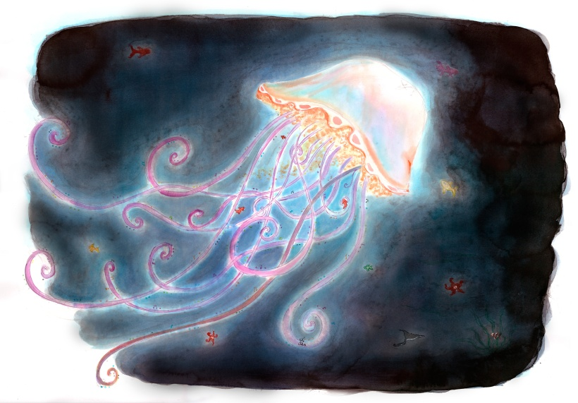 Jellyfish - Illustration - Caroline Dewaele - cAro igano
