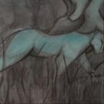 Amazone détail - Illustration - Caroline Dewaele - cAro igano