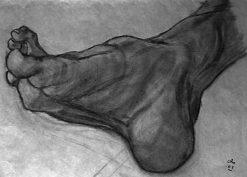 La crampe ! Entraînement anatomie au fusain