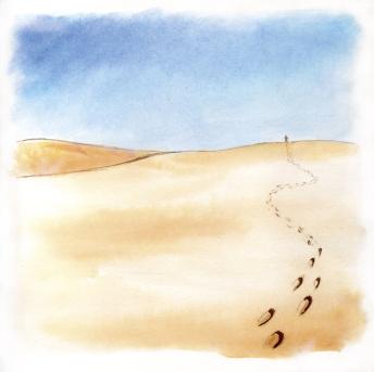 Des pas dans le désert... aux encres