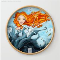 Dryade Arbre-Roi - Wall Clock - Illustration - Caroline Dewaele - cAro igano