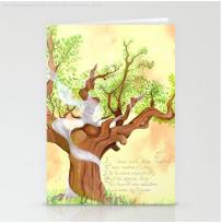 Concentration du Chene - PostalCard - Illustration - Caroline Dewaele - cAro igano
