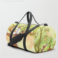 Concentration du Chene - Duffle bag - Illustration - Caroline Dewaele - cAro igano