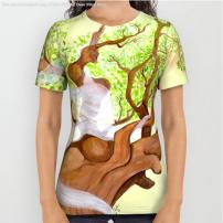Concentration du Chene - TeeShirt - Illustration - Caroline Dewaele - cAro igano