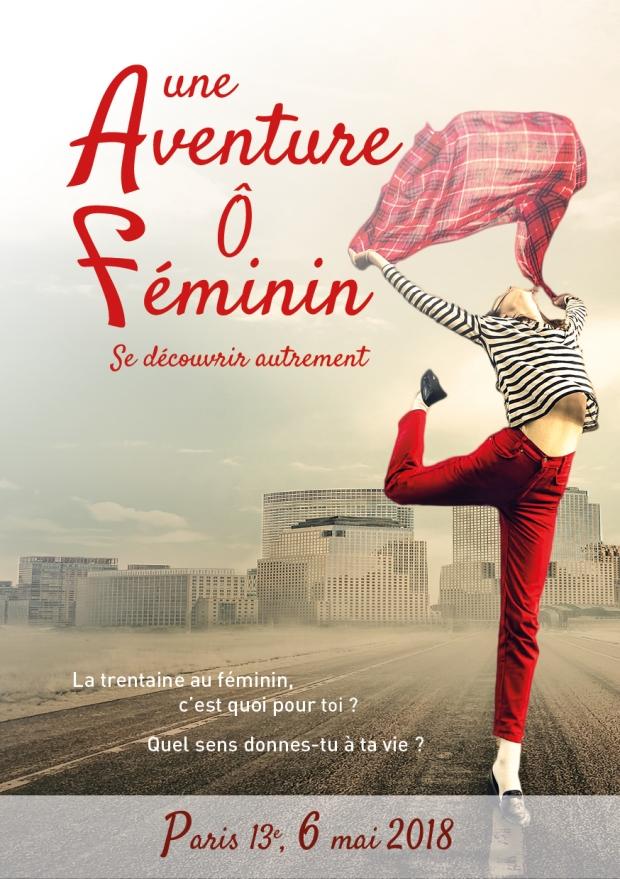 Une Aventure Ô Féminin - flyer recto